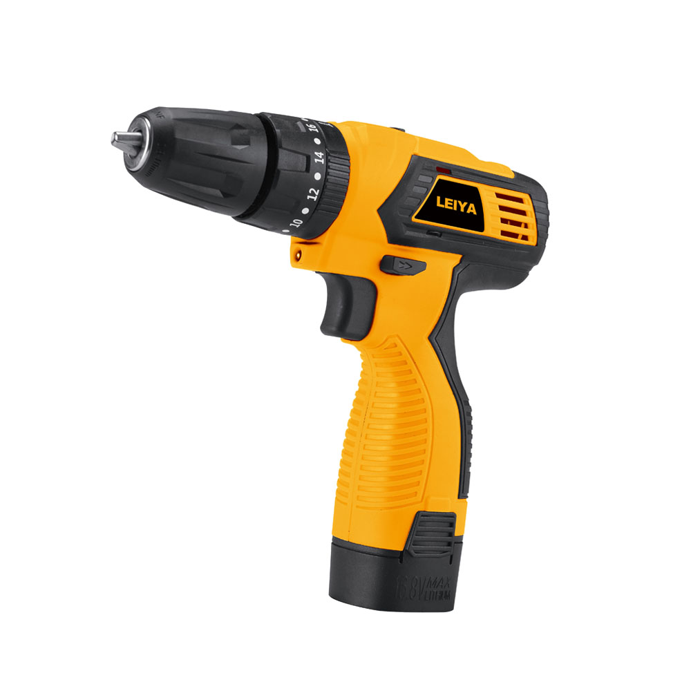 14.4V 1.3Ah / 2.0Ah Li-ion Battery Double Speed ​​Cordless Drill With Impact Function Torque 26N.m LY-DD0614