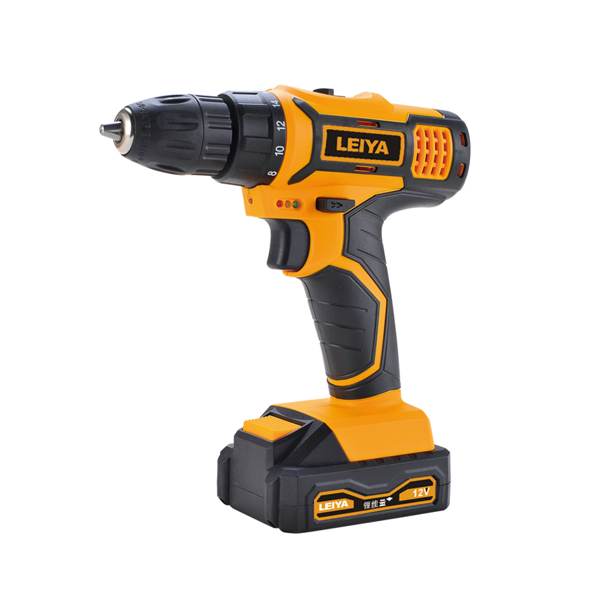 12V 1.3Ah/2.0Ah Li-ion Battery Double Speed Cordless Drill/Screw Driver Max.Torque 22N.m LY-DD0212