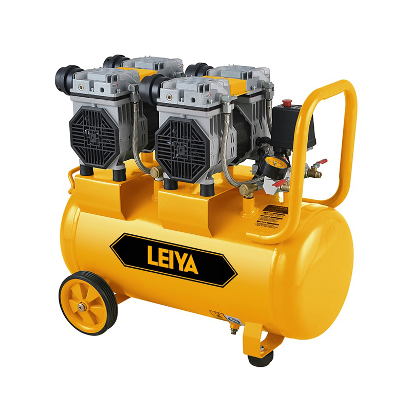 2 Motors 60l Air Tank 0.8mpa Pressure 2*1350w 2 Poles Oil Free /silent Type Air Compressor LY-239-60