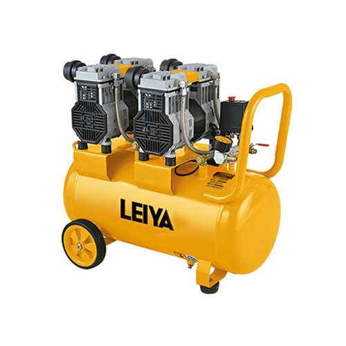 2 Motors 2* 1000w 60l 0.8mpa Pressure 4 Poles Oil Free/silent Type Air Compressor LY-259-60