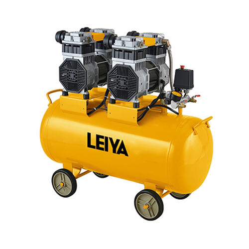 2 Motors 90l 2*1500w 0.8mpa Pressure 4 Poles  Oil Free/silent Type Air Compressor LY-289-90