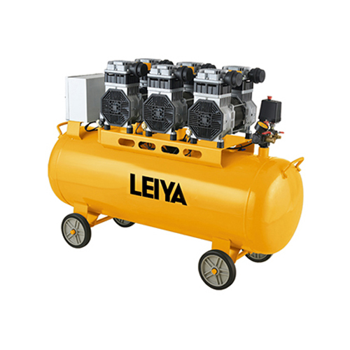 3 Motors 3*1000w 90l 0.8mpa Pressure 4 Poles Oil Free /silent Type Air Compressor LY-359-90