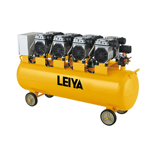 4 Motors 120l Air Tank 0.8mpa Pressure 4*1350w 2 Poles  Oil Free /silent Type Air Compressor LY-439-120